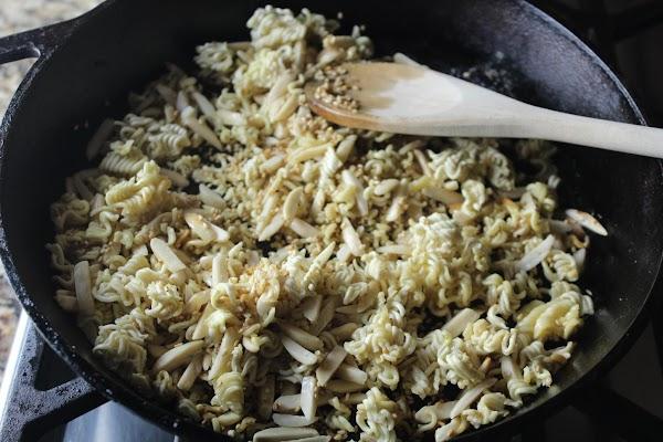 Ramen Mix:  Combine ramen mix ingredients and set aside. Melt butter over medium...