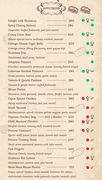 Bohemian Brew menu 6