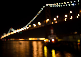 Photo: And then there was darkness San Francisco, CA. 2011.  Final Round (5) of the #PhotographyDeathMatch with the inspiring +Chrysta Rae on the theme Nightscape.  There was punches, kicks, some jabs, most landed squarely on the opponent, some might have been illegal, but that is all behind us now. All that is left is to let the dust settle and see who is still standing.  My last image is the view +Chrysta Rae got before she passed out and we had to call the match due to TKO.  I dont like to repeat my subjects close to each other, and since I posted a photo of the Golden Gate a few days ago, I was thankful to live in a city where we have two out of this world bridges to choose from. (I know #FirstWorldProblems)   Action from Round 4: http://goo.gl/SFFYS by +Chrysta Rae  http://goo.gl/jQipx by +Ricardo Lagos    #PhotographyDeathMatch (Hosted by +Tamara Pruessner and +Samir Osman ) #PhotographyDeathMatch_CRvsRL (See all the match images)