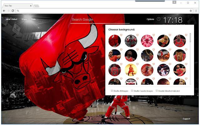 Nba chicago bulls wallpaper hd new tab themes chrome web - Chrome web store wallpaper ...