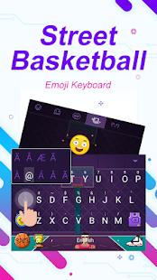 Street Basketball Theme&Emoji Keyboard - náhled