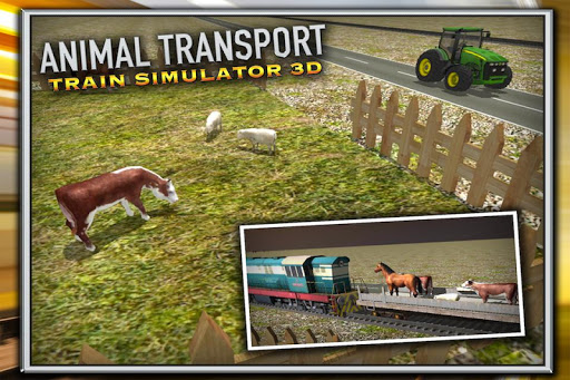 動物輸送列車シムの3D