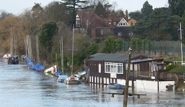 Photo: AQSCmoorings and clubhousde flood 6 Jan 2014