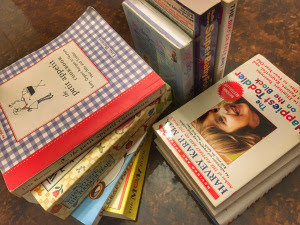 Several of the parenting books in the AFC lending library