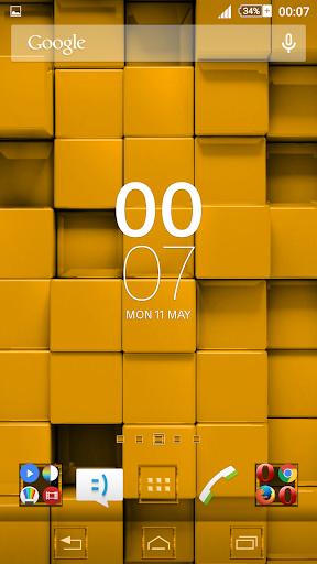 Tiles Yellow Xperien Theme