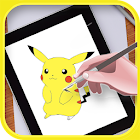 learn to draw pokemon by Vk.soft.Dicapp icon