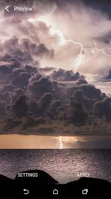 Weather Live Wallpaper - screenshot