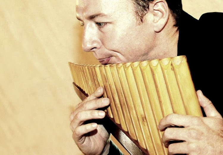 Neels Kruger will play the pan flute at the Feather Market Organ Society Christmas concert
