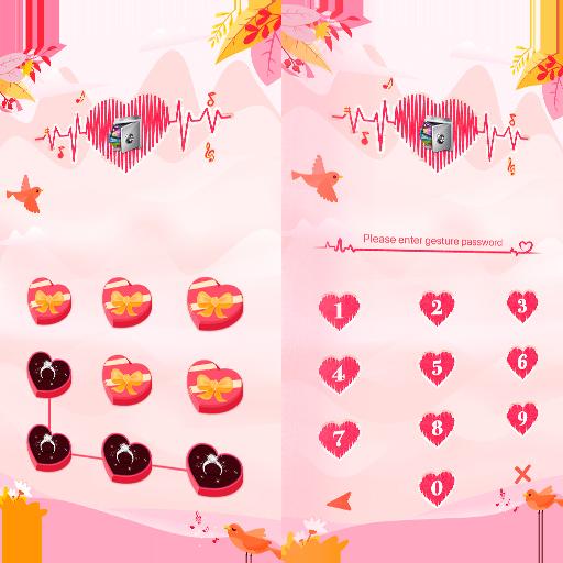 AppLock Theme Heartbeat