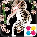 雷桜白虎 和風メンズ壁紙無料 icon