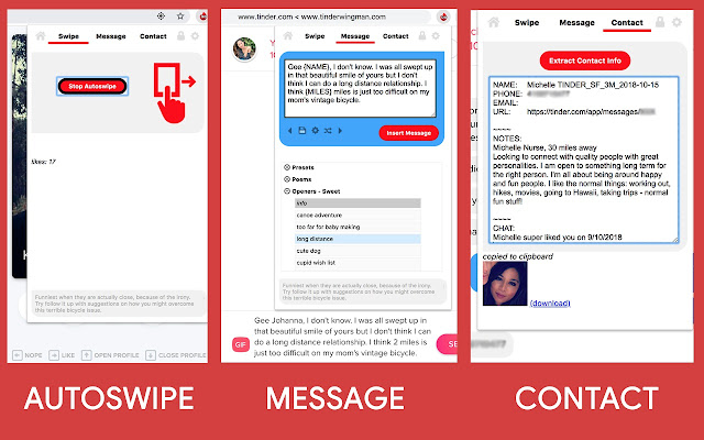 Dating App Wingman Pro (auto-like > message)
