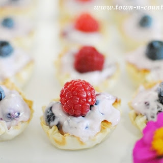 Mini Cream Cheese Fruit Tarts.