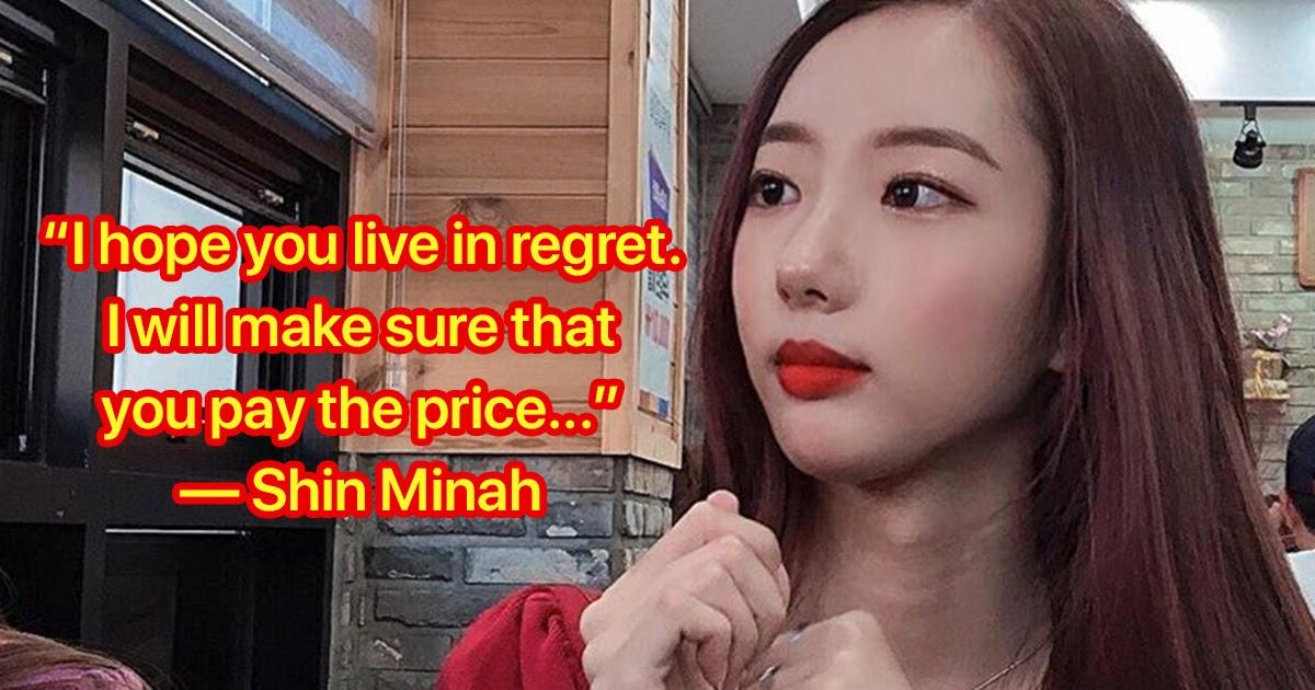 Former iLuv member Shin Minah sent to prosecution for