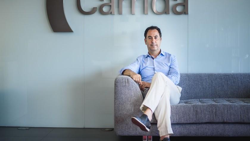 José Luis Carrión fotografiado ayer en su despacho de Grupo Carrida.