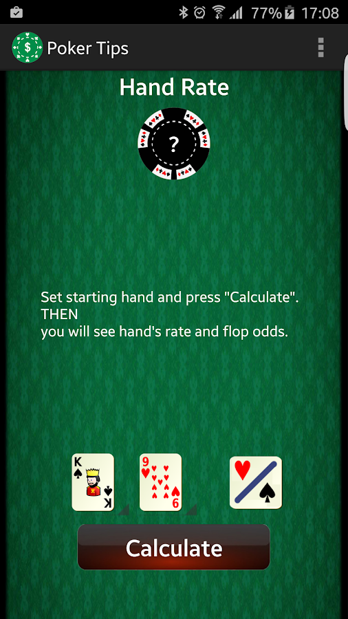 Poker hand calculator preflop