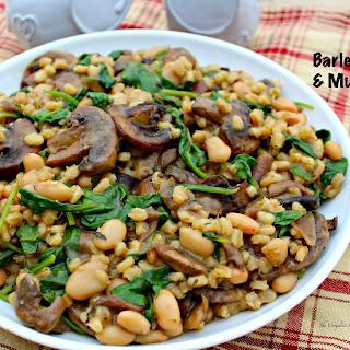 Barley Spinach and Mushrooms Recipe