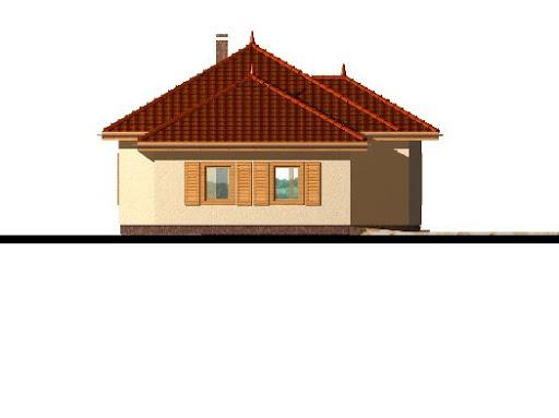Mały z garażem - Elewacja lewa
