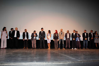 Photo: The opening of Decor at Cairo international Film Festival Nov 2014 with the crew on stage.