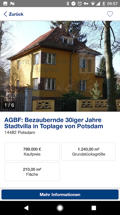 AGBF Immobilien – Screenshot