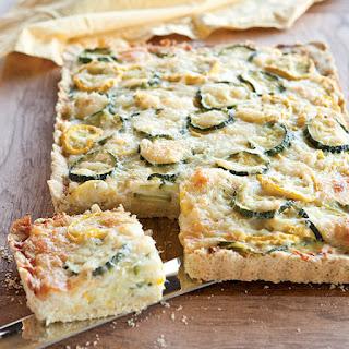 Summer Squash Tart with Cornmeal Crust Recipe