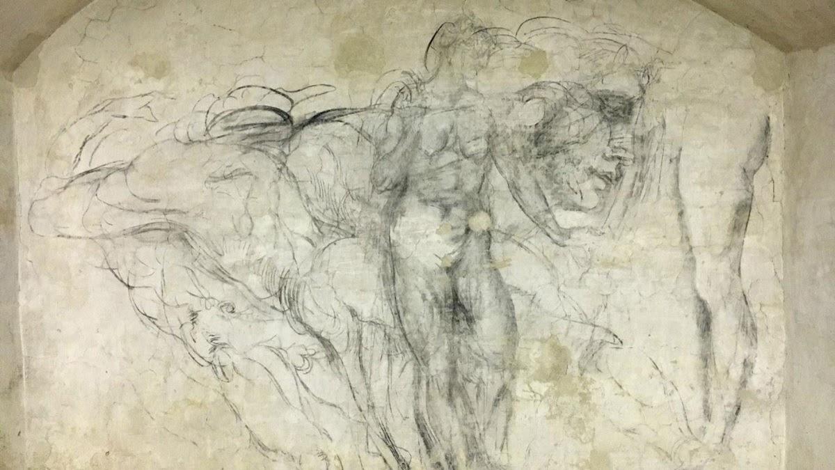 Os desenhos escondidos de Michelangelo