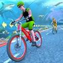 Underwater Stunt Bicycle Race Adventure icon