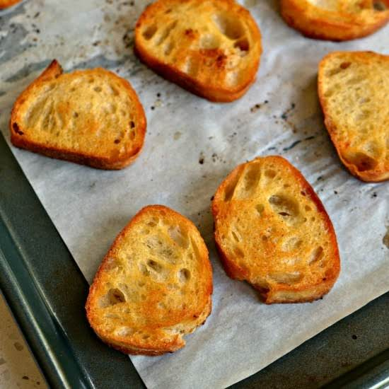 These Homemade Crostini Are Quick And Easy, Cheaper Than Store Bought And Taste So Much Better.