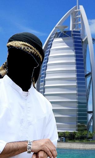 阿拉伯男子;西裝換