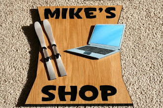 Photo: Carved Sign Mike's Shop in Minnesota . See more wood carved Bank Signs @ signs at www.nicecarvings.com