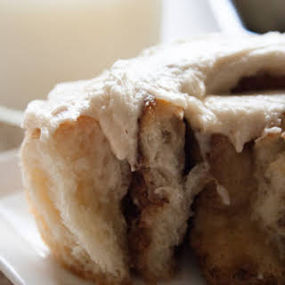 The Most Amazing Cinnamon Rolls with Brown Sugar Cream Cheese Frosting.