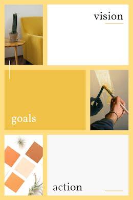 Vision Goals Action - Pinterest Pin item
