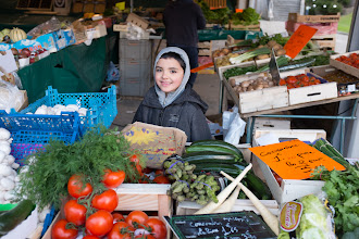 Photo: Fresh face at the green market