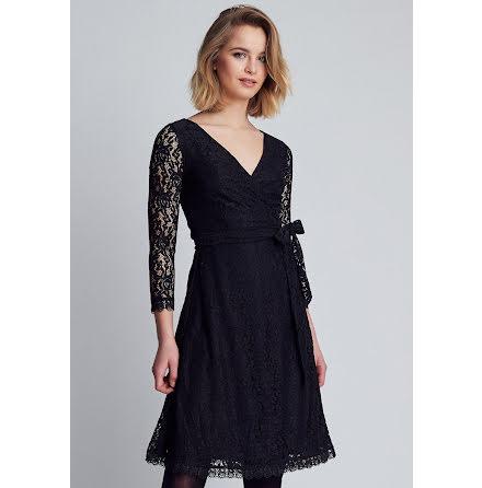 Joni Wrap Dress, Black - Dry Lake
