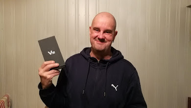 Photo: Sunday giveaway winner Petri R. showing off his new LG V30!