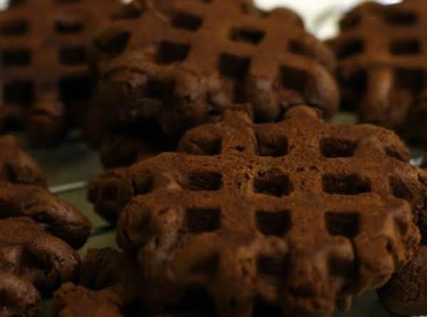 Waffle      Iron   (easy!)     Triple Chocolate Brownies ! Recipe