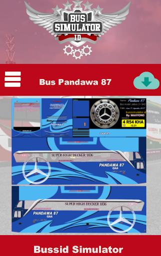 Skin Livery Bussid Pandawa 87 2.0 screenshots 2