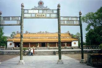 Photo: điện Thái Hòa -mặt trước đã được trùng tu