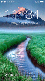 Lock screen slider- screenshot thumbnail