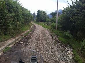 Photo: Roads like these are made by hand. We saw that in numerous towns.