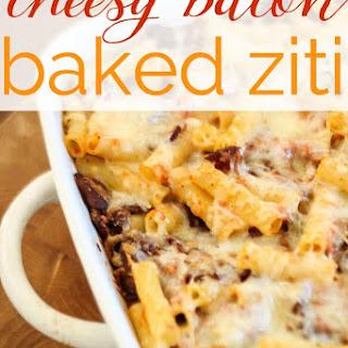 Cheesy Bacon Baked Ziti