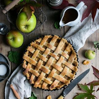 Apple Pie with Caramel Sauce.