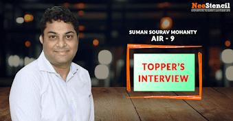 Topper's Interview - Suman Sourav Mohanty (AIR 9 - CSE 2016)