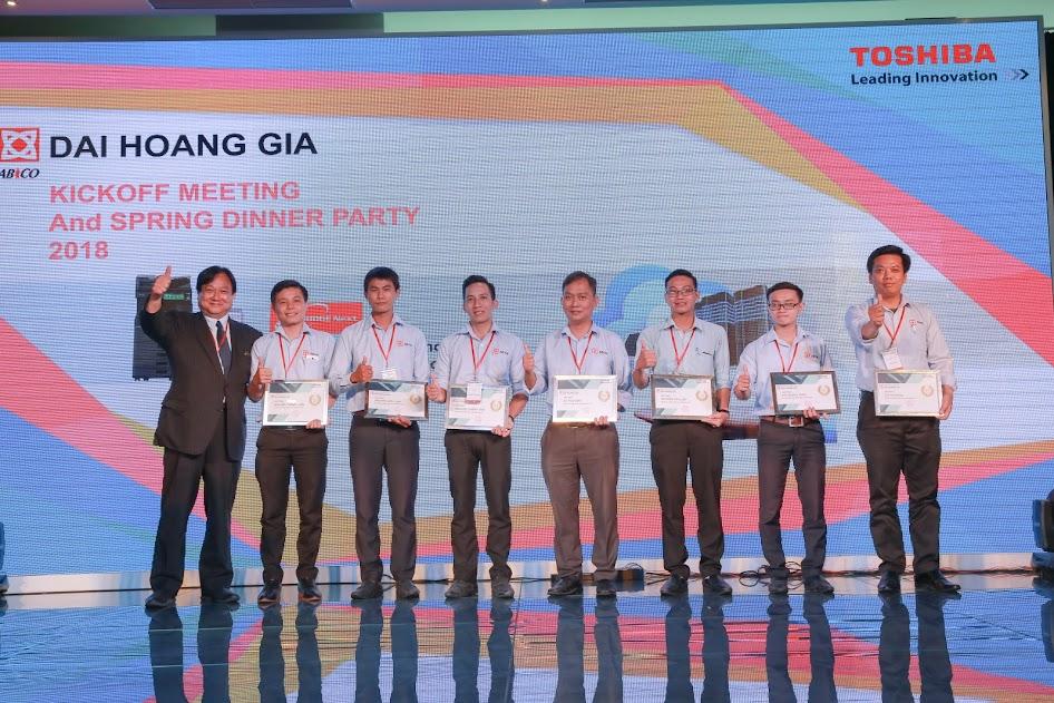 Toshiba trao thưởng cho nhân viên xuất sắc của DHG