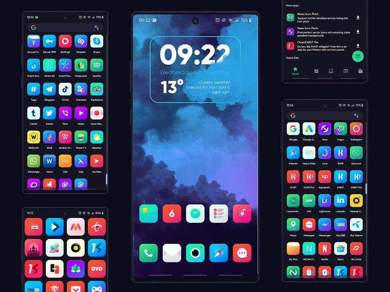 Nova Icon Pack - Rounded Square Icons Screenshot 0