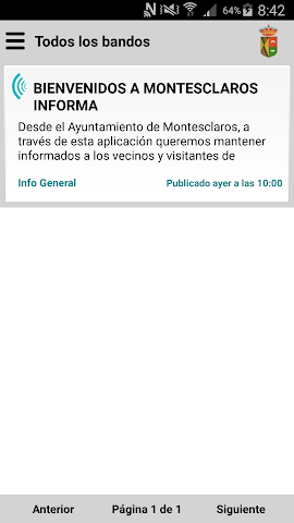 android Montesclaros Informa Screenshot 1