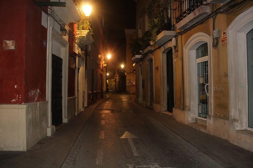 La calle Real en silencio total.