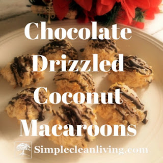 Chocolate Drizzled Coconut Macaroons