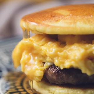 Low Carb Pancake Breakfast Sandwich.