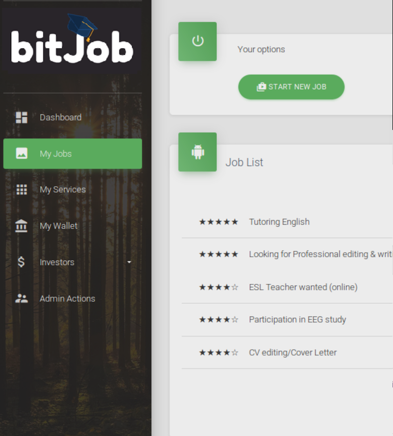BitJob - Students MarketPlace- screenshot