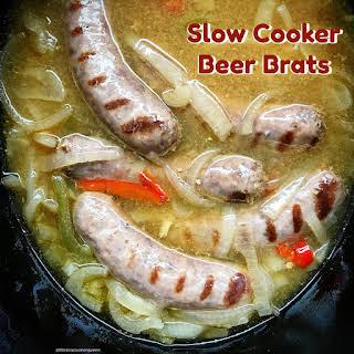 Slow Cooker Beer Brats.